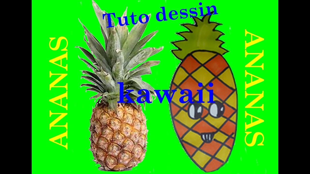 Tuto dessin: ananas kawaii - YouTube
