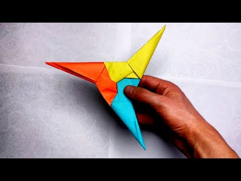 Origami 3 pointed ninja star instructions | How to make ninja weapons easy that you can throw