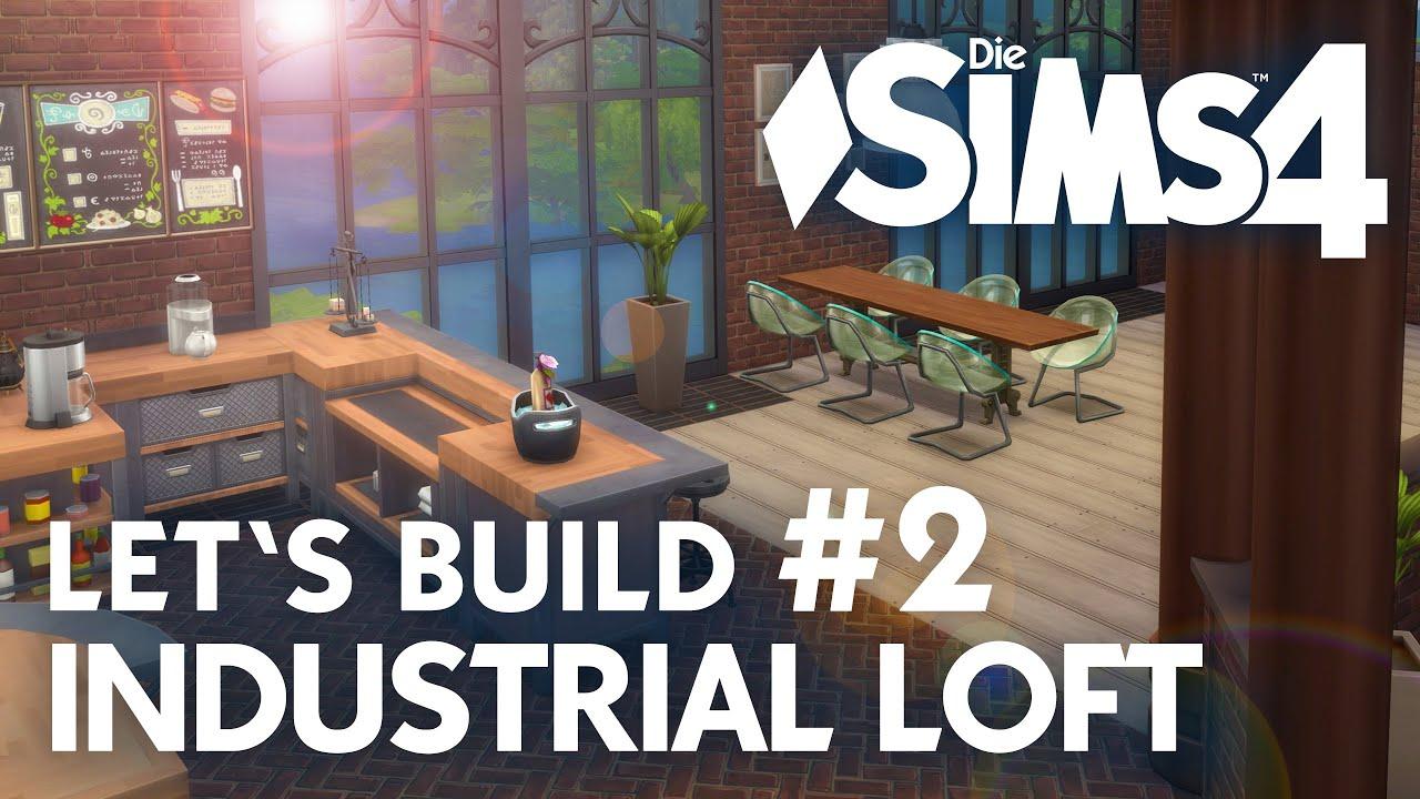 Die sims 4 lets build industrial loft 2 küche esszimmer