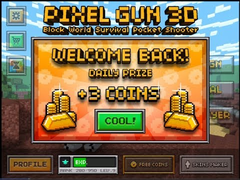 how to get more coins on pixel gun 3d