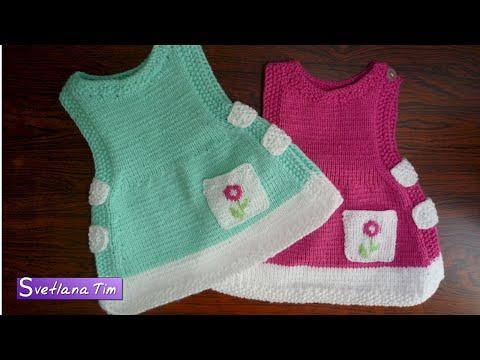 Вязание спицами для девочек от 0 до 1 года с описанием для девочек