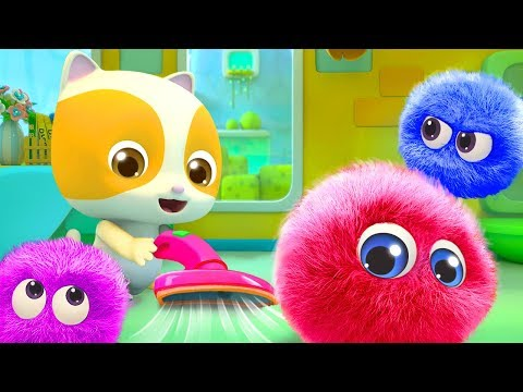 Baby Kitten Cleans the Dust | Cute Dust Song | Nursery Rhymes | Kids Songs | BabyBus