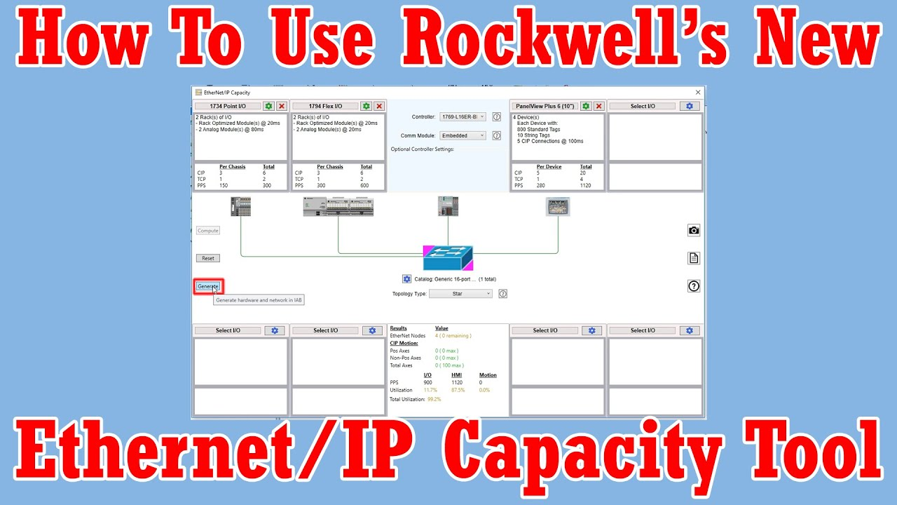 How To Use Rockwell's New Ethernet/IP Capacity Tool