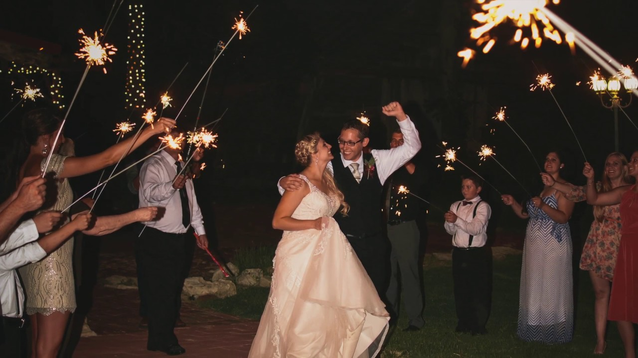 Wedding Sparkler Sendoff - YouTube