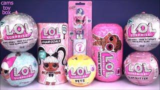 LOL Surprise Series 1 3 4 5 HairGoals Bling PETS Under Wraps Glam GLITTER DOLLS Unboxing TOYS