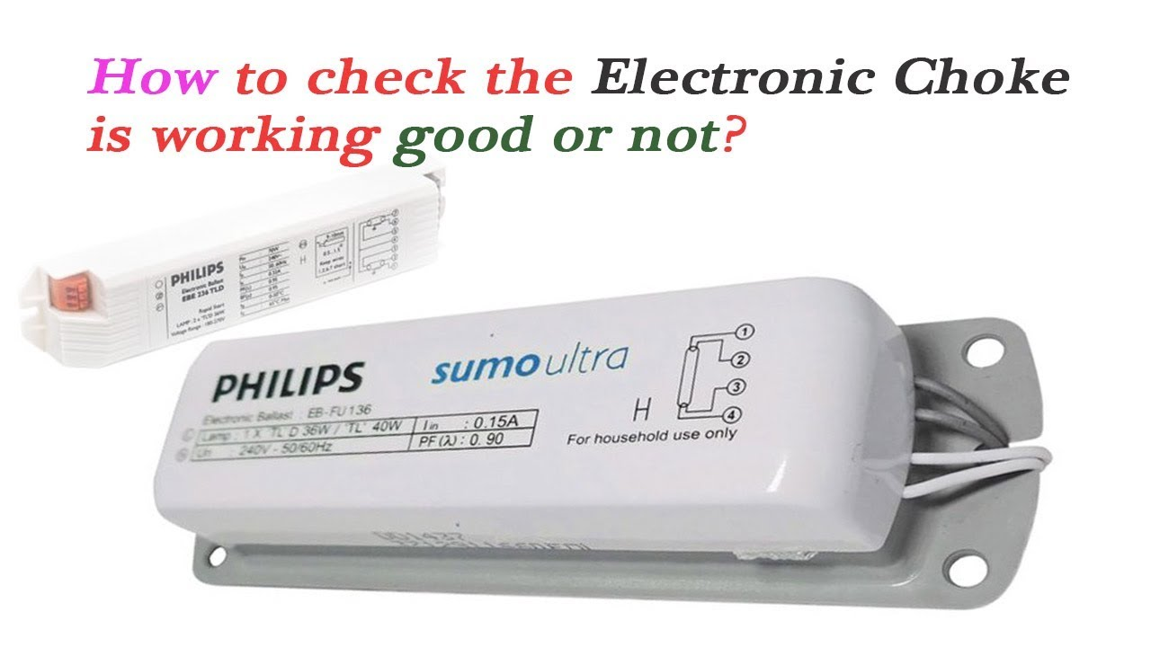 medium resolution of how to check tubelight electronic choke is working good or not