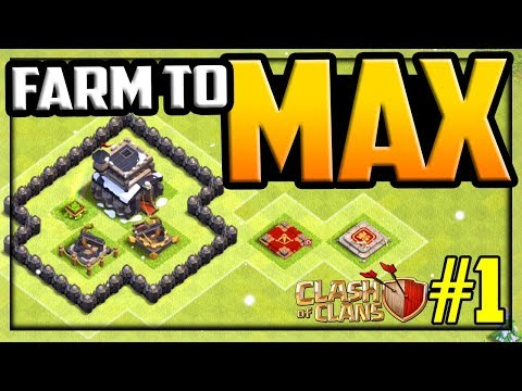 FARM to MAX! Clash of Clans Town Hall 9 Strategy and Farming Episode #1!