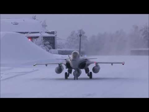 Dassault Rafale B Severely Cold Weather Tests In Finland