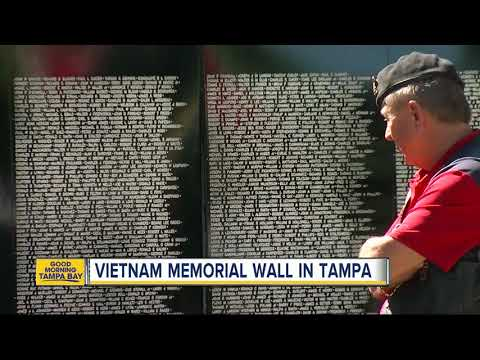 Stunning traveling replica of Vietnam Memorial Wall in Tampa this weekend