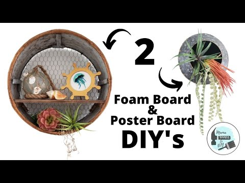 2 High End Farmhouse DIY's Using Dollar Tree Foam Board & Poster Board | Look For Less