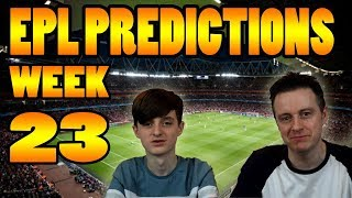 EPL Premier League Score and Result Predictions Week 23 2017/18 Season