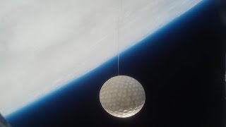 Golf Ball Hit to Near-Space by 7 Year Old! (Weather Balloon to 95K Feet)