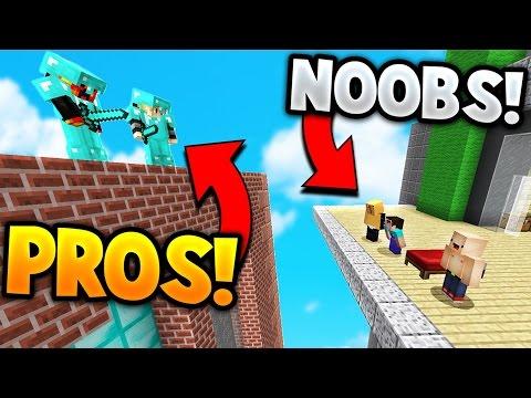 TWO PROS vs SUPER NOOBS! | Minecraft BED WARS - Видео из Майнкрафт (Minecraft)