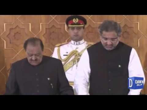 Shahid Khaqan Abbasi sworn in as prime minister of Pakistan