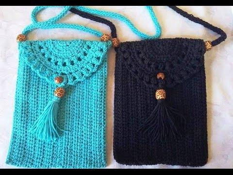 Crochet Pochette Bandouliere 1 2 Etape Par Etape Youtube