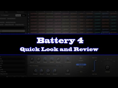 Native Instruments - Battery 4 - Quick Look and Review (GrapeVine Recording)
