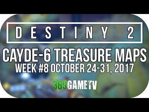 Destiny 2 IO Treasure Map Locations (Cayde-6 Treasure Maps Guide Week #8 24/10 - 31/10)