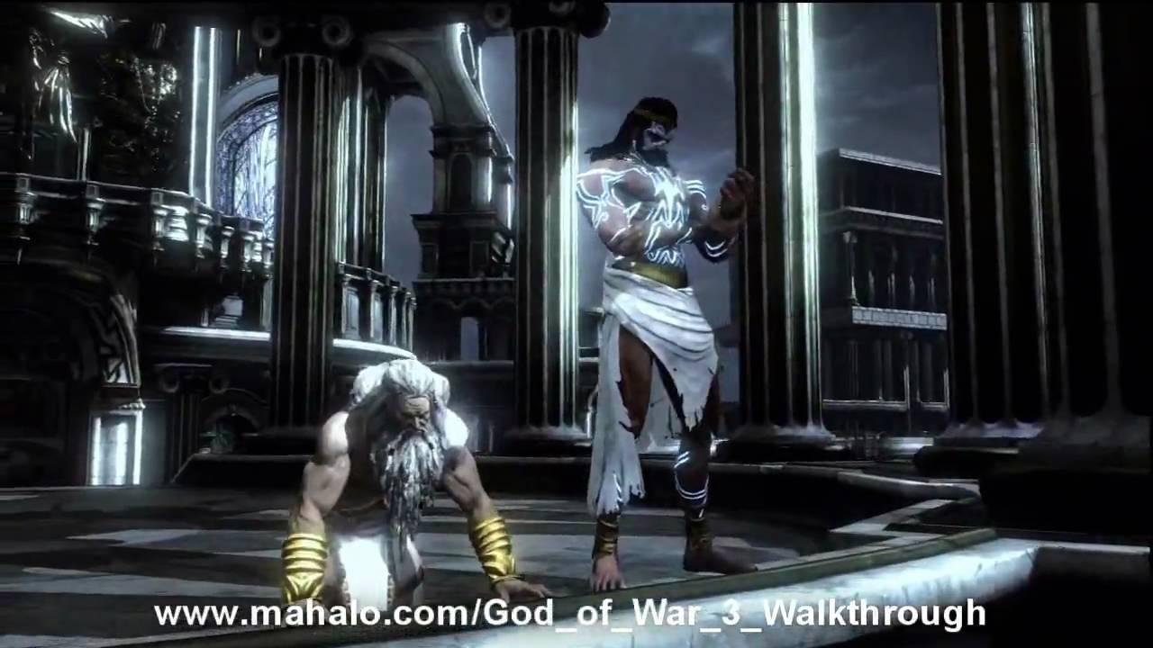 God of War III Walkthrough - Poseidon Boss Fight Part 1 HD ...