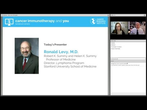 Killing Cancer: Immunotherapy for Leukemia and Lymphoma, with Ronald Levy