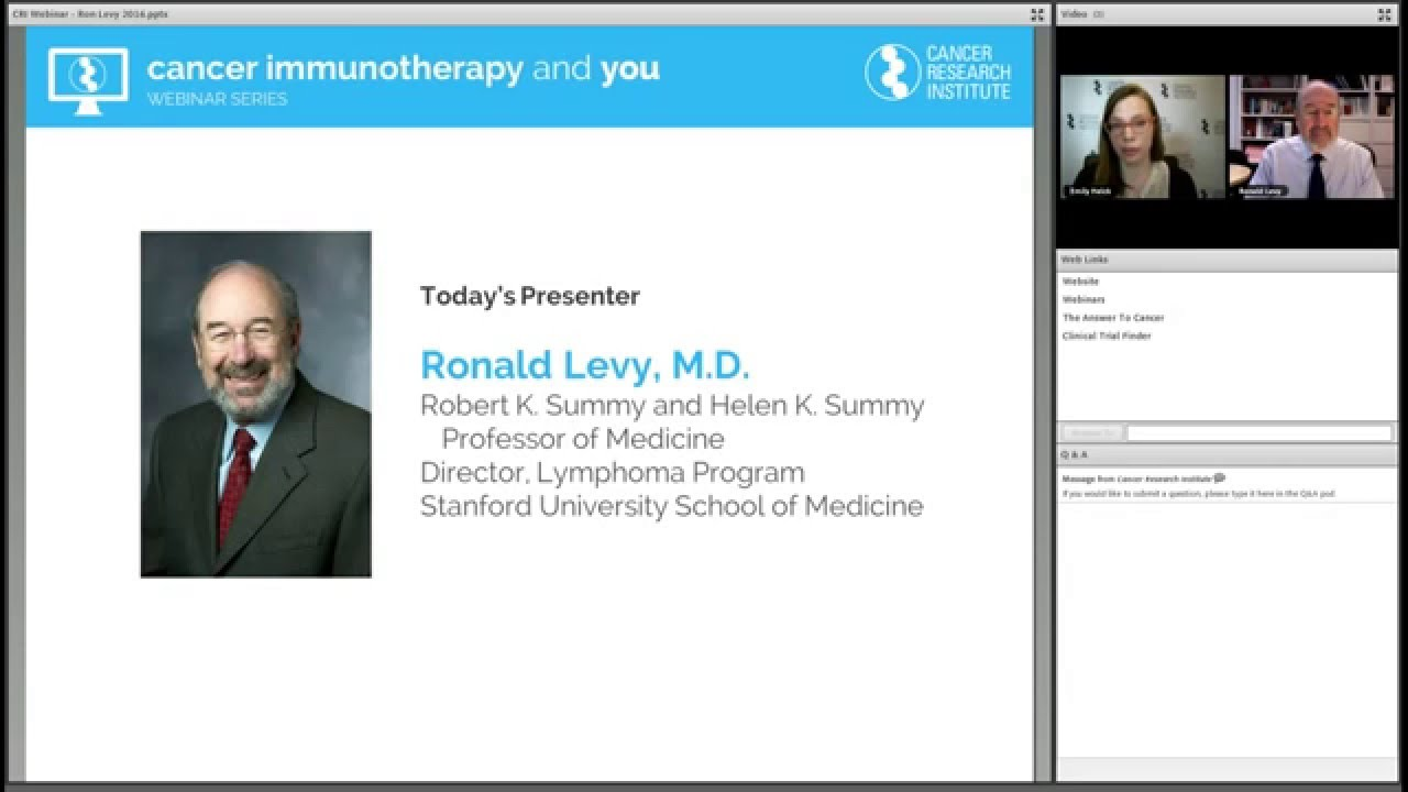 Webinar: Immunotherapy for Leukemia and Lymphoma - Cancer Research