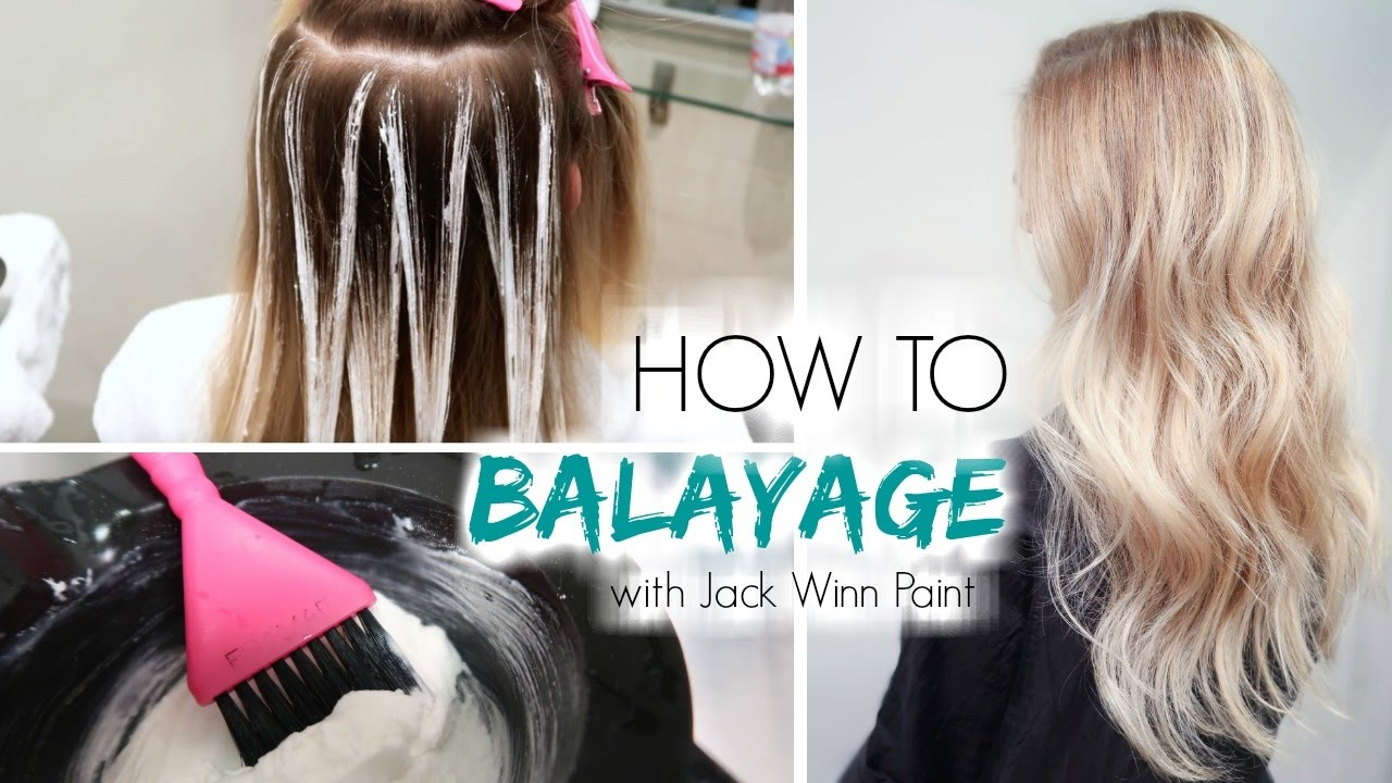 How To Balayage Hair Freehand Painting Youtube