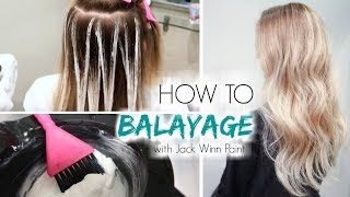 How to Balayage Hair   Freehand Painting