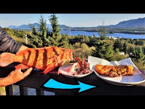 STUFFED Fish, Fried Then SMOKED!! Catch And Cook IN ALASKA!!!