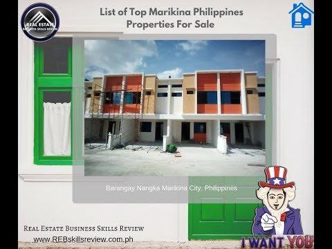 List of Top Marikina City, Metro Manila Philippines Properties For Sale