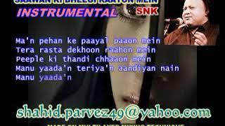 SAAWAN KI BHEEGI RAATON MEIN INSTRUMENTAL VERSION 2 BY SHAHID PARVEZ CH