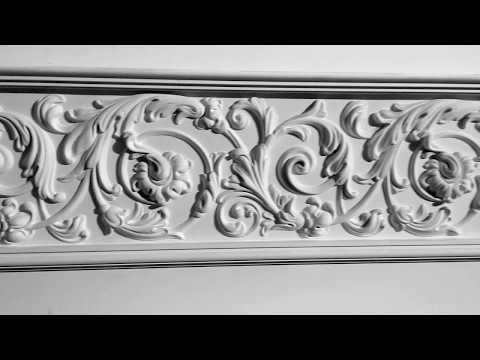 Оформление стен, лепнина из гипса. Making the walls, moldings from plaster