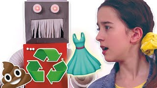 Princess Invents A Recycling Robot! - Kiddyzuzaa