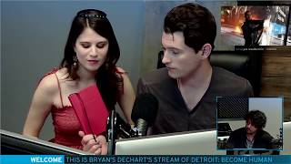 Bryan Dechart aka Connor Plays Detroit: Become Human w/ Amelia Rose Blaire - Full Stream #3 thumbnail