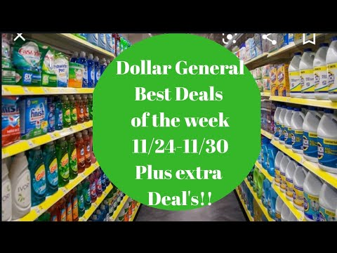 Dollar General Best Deals Of The Week 11/24-11/30