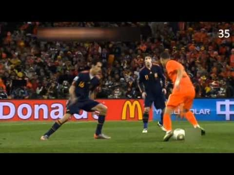 world cup final spain holland all fouls