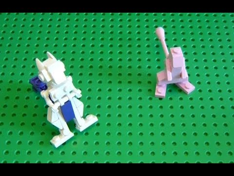 Lego Pokemon Instructions Part 25 Mewtwo And Mew Youtube