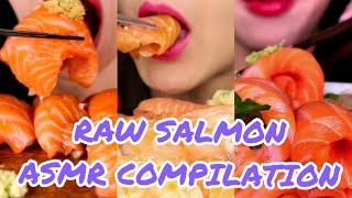 RAW SALMON SASHIMI Eating SHOW…
