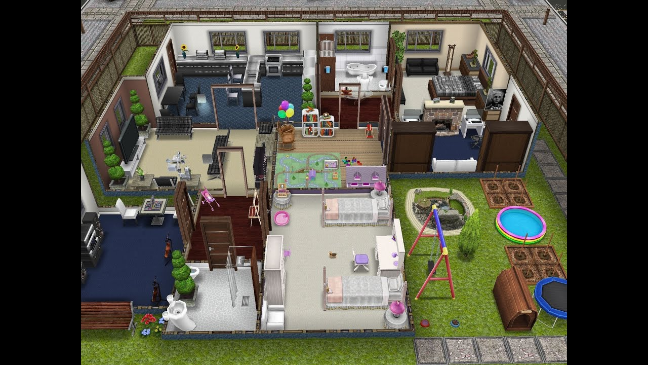Player Designed Home Sims Freeplay
