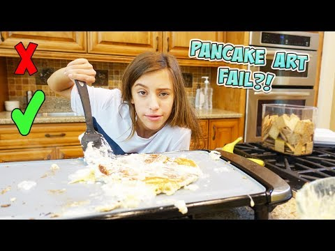 COOKING WITH JAYLA!! SHE TRIES THE ULTIMATE PANCAKE FLIP!