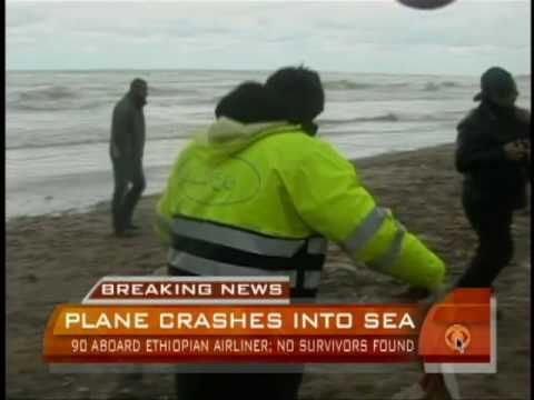 Airliner Crashes into Sea
