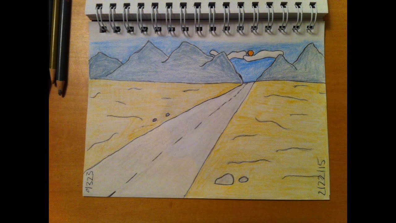 188 - How to Draw! Cool Easy Cartoon Desert Background - YouTube