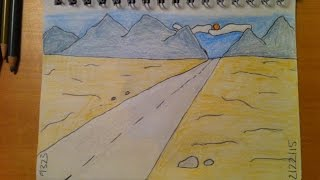 188 - How to Draw! Cool Easy Cartoon Desert Background
