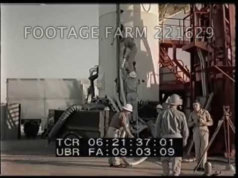 Jupiter C Rocket Prepared For Juno 2 Test 221629-03   Footage Farm