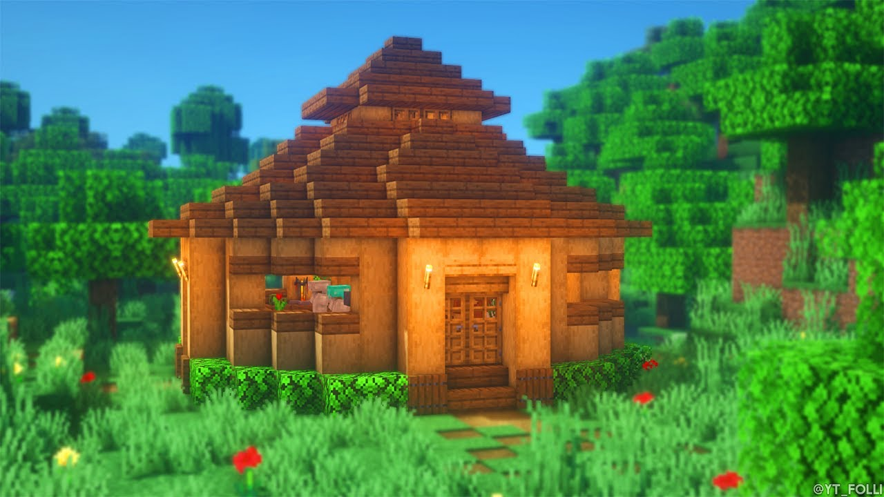 Minecraft: How to Build a Storage House  Simple Storage House Survival  Tutorial