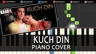 Kuch Din Kaabil|Hirthik Roshan|Hindi Song| Piano Chords Tutorial Instrumental Karaoke By Ganesh Kini