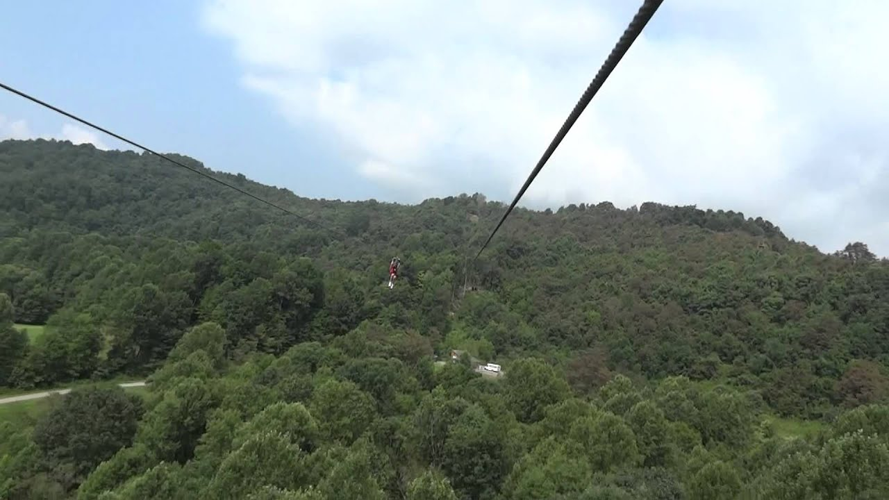 Zip Lining At The New River Gorge Wv Youtube