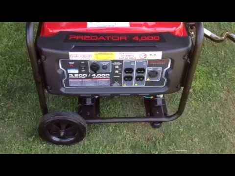 Harbor Freight Tools Predator 4000 Watt Generator Review