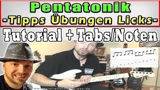 Pentatonik! Die besten Übungen, Tipps und Licks (ACDC, Led Zeppelin, Slash, Hendrix)