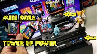 Mini Sega Genesis Tower of Power fully functional custom build