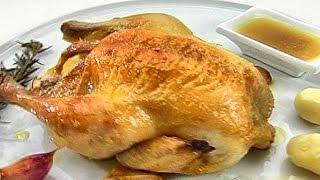 Курица с чесноком.