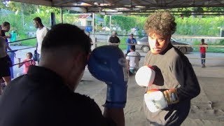 Sparring from Tonga (Hopefuls for the Pacific Games)